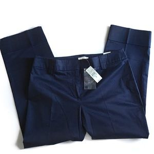 NWT LOFT Ann Navy Cropped Cuffed Pants