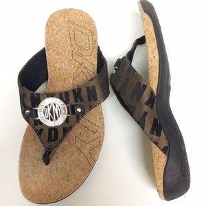 DKNY cork/canvas sandal