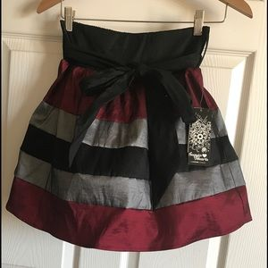 Sequin Hearts Dresses & Skirts - Sequin Hearts Stripe Skirt w/Tulle Lining