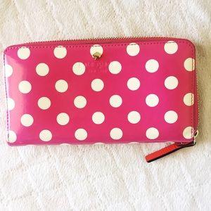 kate spade Handbags - Kate Spade pink polka dots patent leather wallet