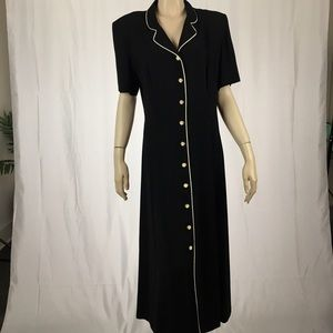 Leslie Fay Dresses - 🎉SALE🎉 Vintage Leslie Fay Button Down Maxi Dress