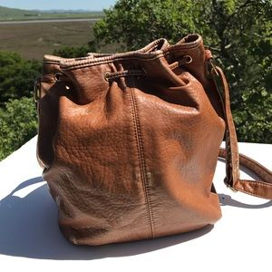 LD Bags - LD Brown Drawstring Studded Handbag Purse
