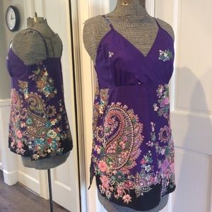 Tops - Georgeous Embellished Tank Top NWOT