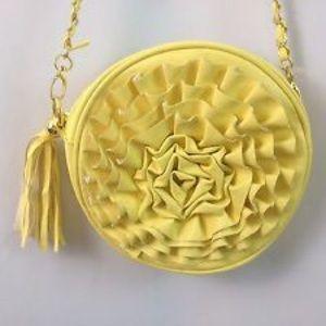 Nila Anthony Handbags - Yellow flower Tassel Purse (bought for $200)