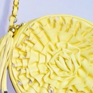 Nila Anthony Handbags - Yellow flower Tassel Purse (bought for $200)