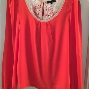 Ryu Tops - Orange and lace blouse
