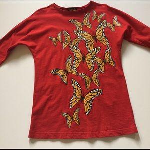 Bob Mackie Tops - Bob Mackie Monarch Butterfly Tunic