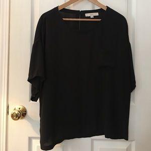 Ann Taylor Loft  black blouse
