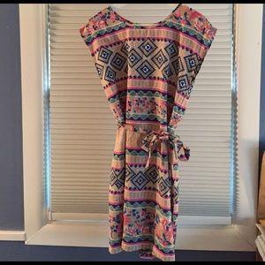 Floral & Aztec Print Dress