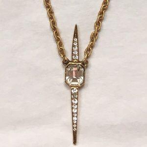 Elizabeth Cole Gold Pendant Necklace