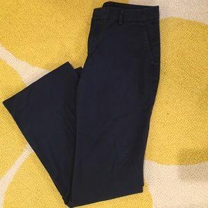 Gap navy blue wide leg khakis