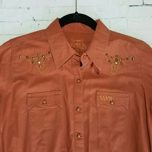 Wrangler Tops - Western Pearl Snap Button Down