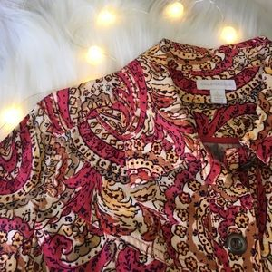 Charter Club Paisley Spring Jacket Large