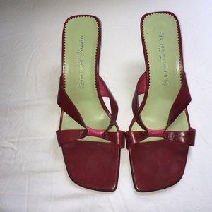 Sigerson Morrison Shoes - Sigerson Morrison red open-toe heels