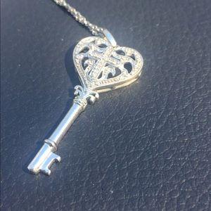 Kay Jewelers Jewelry - Sterling Silver & Diamond Key Heart Necklace JWBR