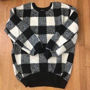JOA Sweaters - Buffalo check sweater