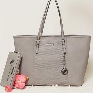 """Michael Kors Handbags - NWOT MICHAEL KORS SILVER STUDDED TOTE """"BAG ONLY"""""""