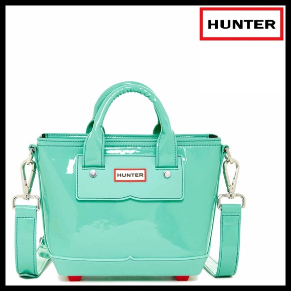 da16c826886 Hunter Bags   Original Patent Leather Mini Tote Crossbody   Poshmark