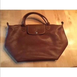 Longchamp Handbags - Longchamp Neo Le Pliage brown leather handbag