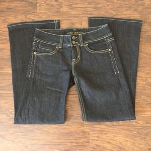 MEK Denim - Mek Denim dark wash straight leg jeans