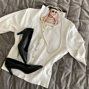 Audrey & Grace Sweaters - 🌷Ivory Short Sleeve Cardigan