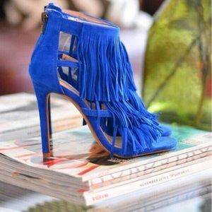 63% off Candie's Shoes - 💖 NIB suede fringe boots from ! kate's ...