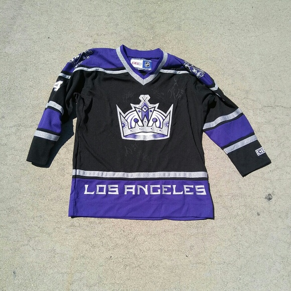 size 40 b5dec e52e5 La kings hockey ccm jersey 2008 autographed