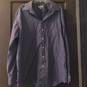 Merona Other - Men's red and blue check button down