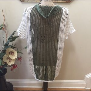 💜💜Free People open knit BOHO cover up/tunic