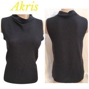 Akris Tops - Akris Black Sleeveless Top 12