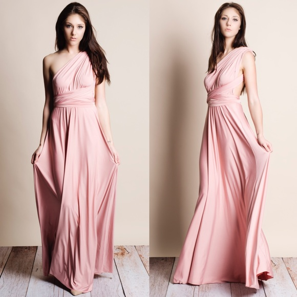 e02f36a0177b 1DAYSALE Multi Wear Pink Maxi Dress Boutique