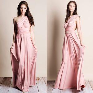Multi Wear Pink Maxi Dress