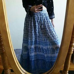 Free People Dresses & Skirts - Blue Boho Maxi Skirt