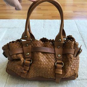 Francesco Biasia woven leather handbag