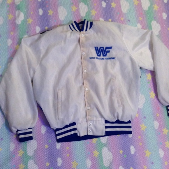 Jackets & Coats - ULTIMATE WARRIOR CHALK LINE VINTAGE VARSITY JACKET