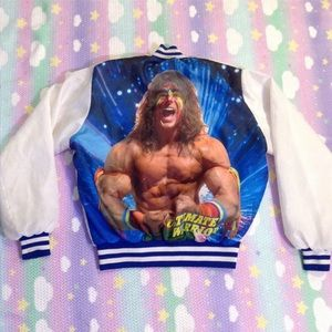 Jackets & Blazers - ULTIMATE WARRIOR CHALK LINE VINTAGE VARSITY JACKET