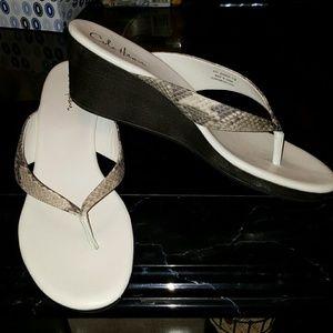 Cole Haan Nike Air flip flop heels
