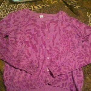 Sweaters - Mauve Pink Purple Leopard Cardigan & Cami