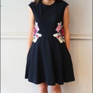 Carven Dresses & Skirts - Carven floral navy dress