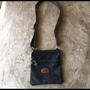 Faux longchamp crossbody bag
