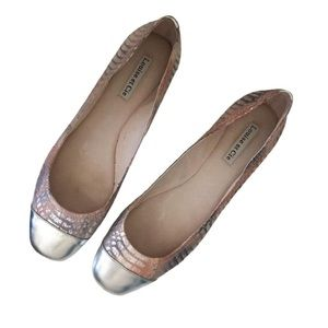 Anthropologie Shoes - Louise Et Cie Jilly pink silver snakeskin flats 10