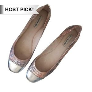 Anthropologie Shoes - *HP!* Louise Et Cie Jilly pink silver flats 10