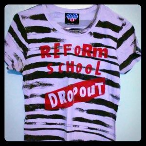 Junk Food Clothing Tops - Cute Reform School Dropout Tee
