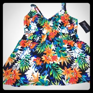 Maxine of Hollywood Other - Beautiful Hawaiian Print Colorful Floral Swimdess