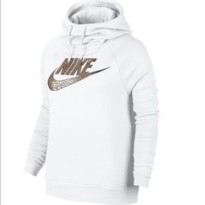 Nike Tops - Nike rally funnel neck hoodie sweatshirt
