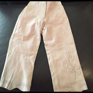 Lili Gaufrette Other - NWT Lili Gaufrette rose pink pigskin pants