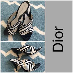 Dior Strappy Blue & White Sandals
