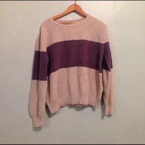 Vintage JCREW color block sweater M