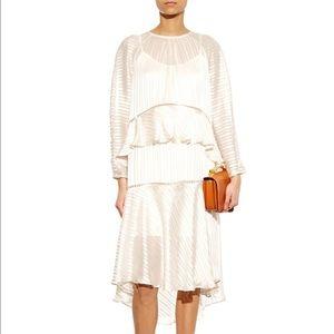 Zimmermann Tarot Striped Peplum Maxi Dress 0 XS