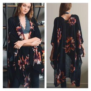 Floral Print Kimono, Bohemian Kimono